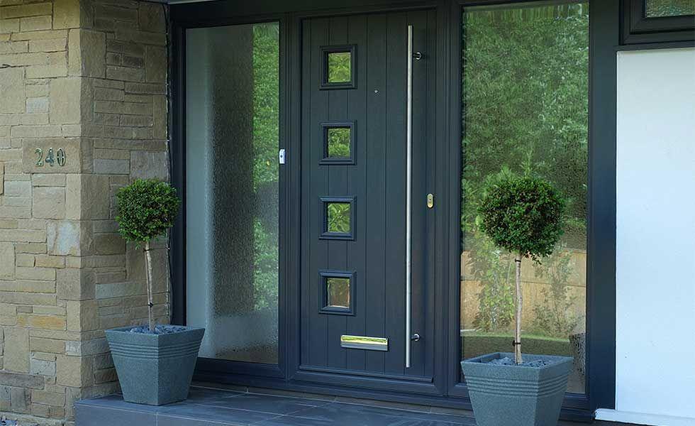 newly installed composite front door